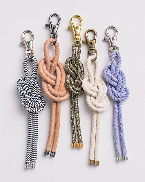 How to Make a Nautical Knot Bag Charm