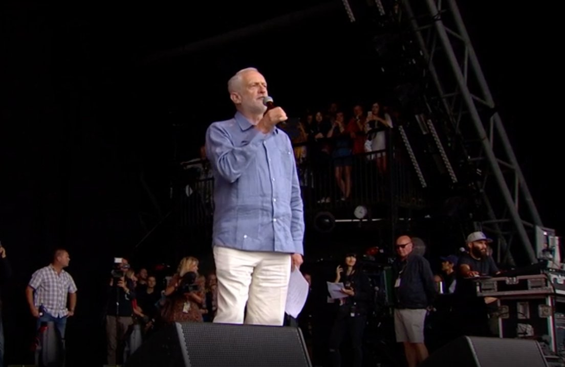 Jeremy Corbyn draws 'biggest Glastonbury crowds in years' for rousing...