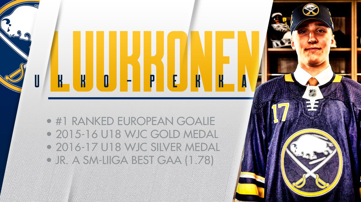One of the best goalie prospects in the world is now part of the Sabre...