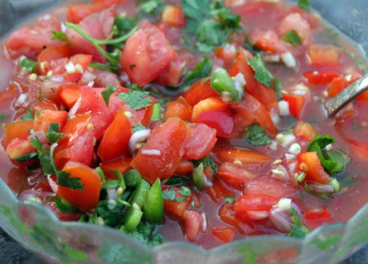 Salsa Made With Fresh Tomatoes Recipe