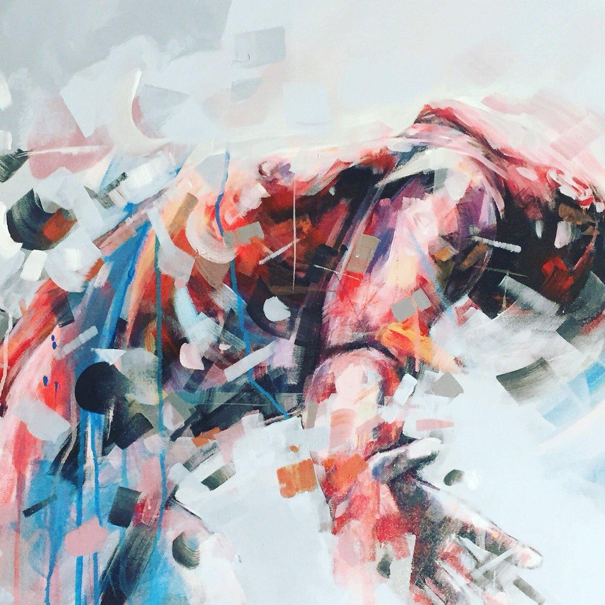 Dairo Vargas On Twitter Closeup Mixed Media On Canvas Movement Body Art Painting