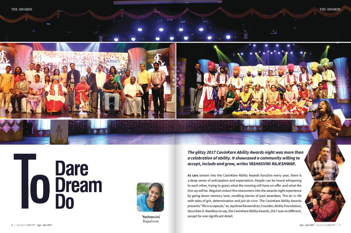 #Success &amp; #Ability #Magazine covered wonderfully the #cavinkare Ability #award ceremony and #MyStory too! Stay tuned for rest of it.<br>http://pic.twitter.com/aDZr4zos3L
