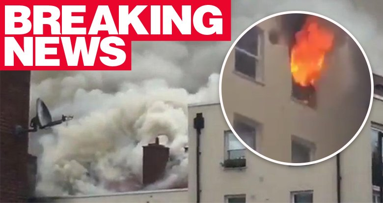 More than 40 firefighters at tower block fire in Bethnal Green tower b...