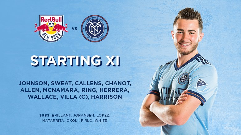 #NYCFC XI for Hudson River Derby https://t.co/7ZblsaQqHf