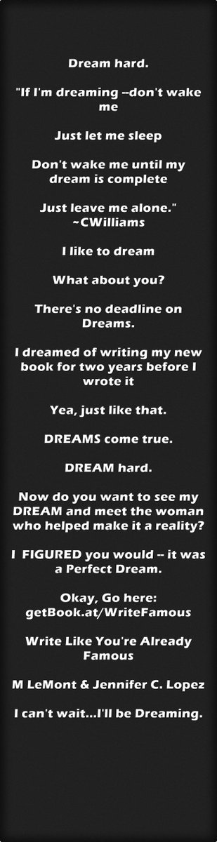 I'll be Dreaming. Dream hard. https://t.co/iTYHdZFch7 #IARTG #IAN1 #ASMSG #Authors #AmWriting @TheJennieration