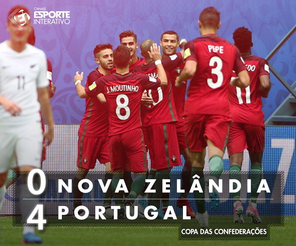 CLASSIFICADO! Sem sustos, Portugal atropela a Nova Zelândia e garante vaga nas semifinais da Copa das Confederações! Ta na torcida por eles?