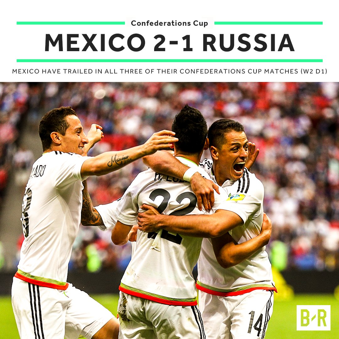 The Confederations Cup comeback kings advance! 🇲🇽