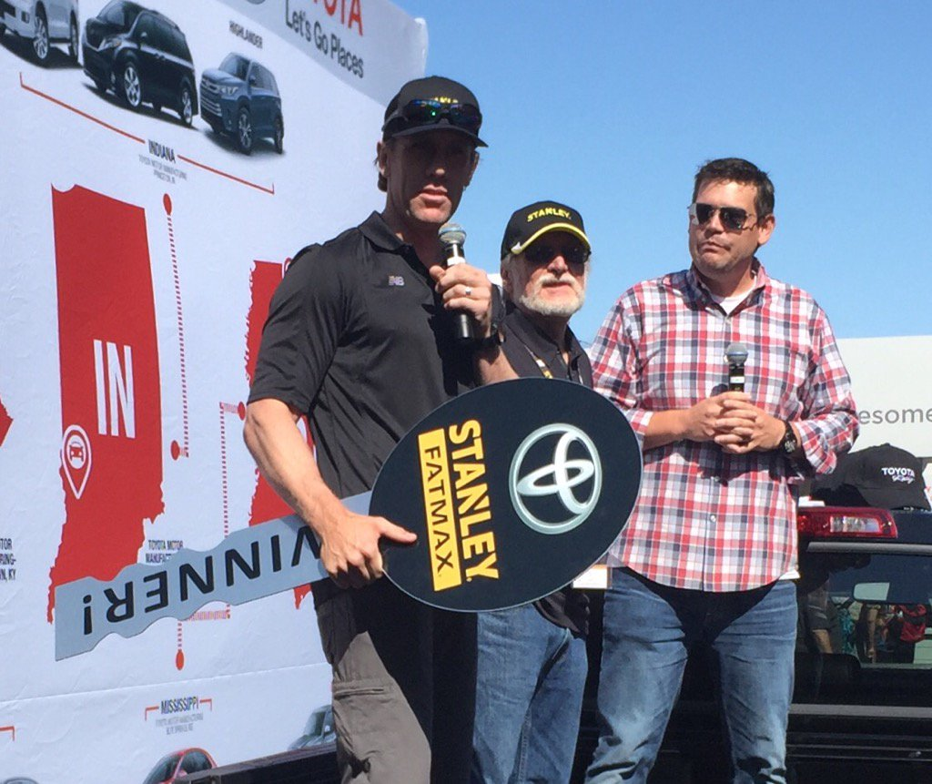Carl Edwards at Sonoma fulfilling a sponsor commitment he made last ye...