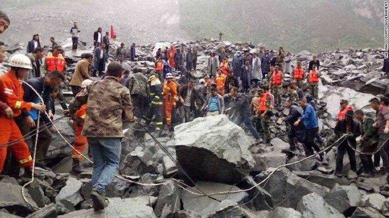 More than 100 people are missing after a landslide in southwest China's Sichuan province, state-run TV says https://t.co/5Z1Pa7mNtT