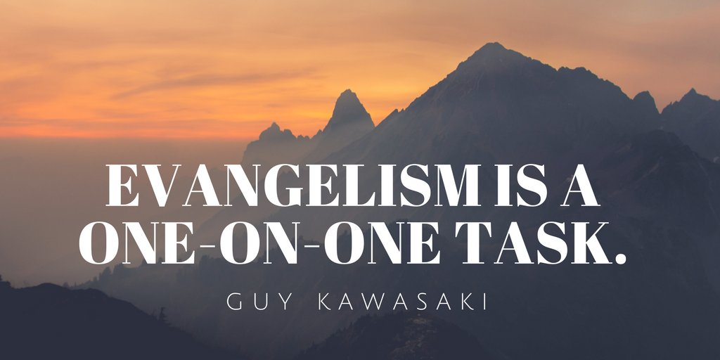 #Evangelism is a one-on-one skill. You convert and train people one at a time. Learn how here: https://t.co/keyH0E9Bpp  #marketing #biztips