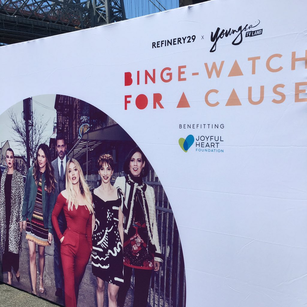 We're here at Binge-Watch For a Cause, getting ready to #BingeYounger...