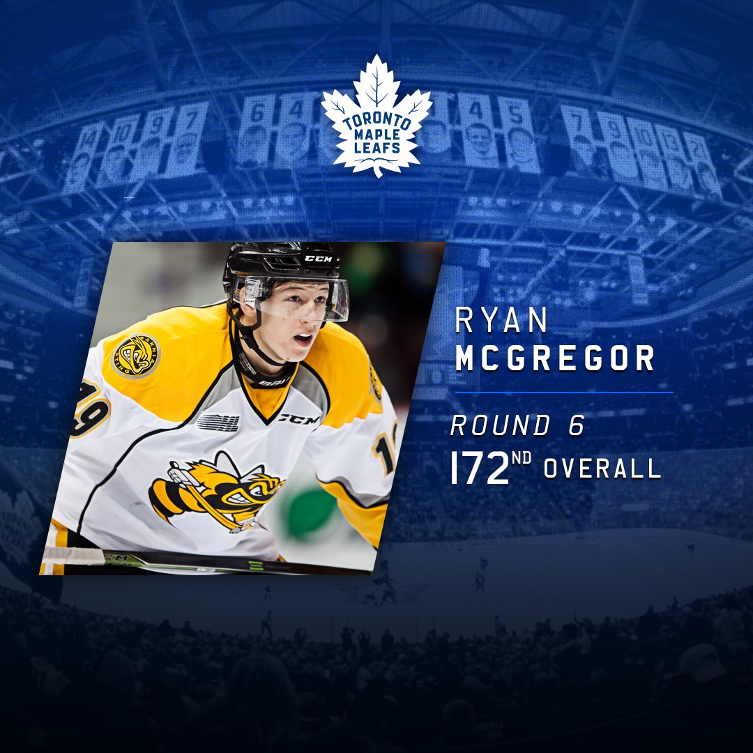 With the 172nd overall pick, the @MapleLeafs select from @StingHockey,...