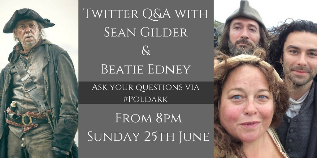 Ask Sean and Beatie your questions via #Poldark, and get some answers...