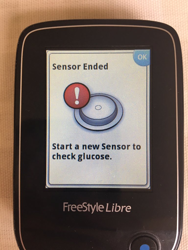 New sensor went on yesterday and it&#39;s already showing me this?! Annoyed is an understatement! @FreeStyleDiabet #Libre <br>http://pic.twitter.com/tIbvnkpA88