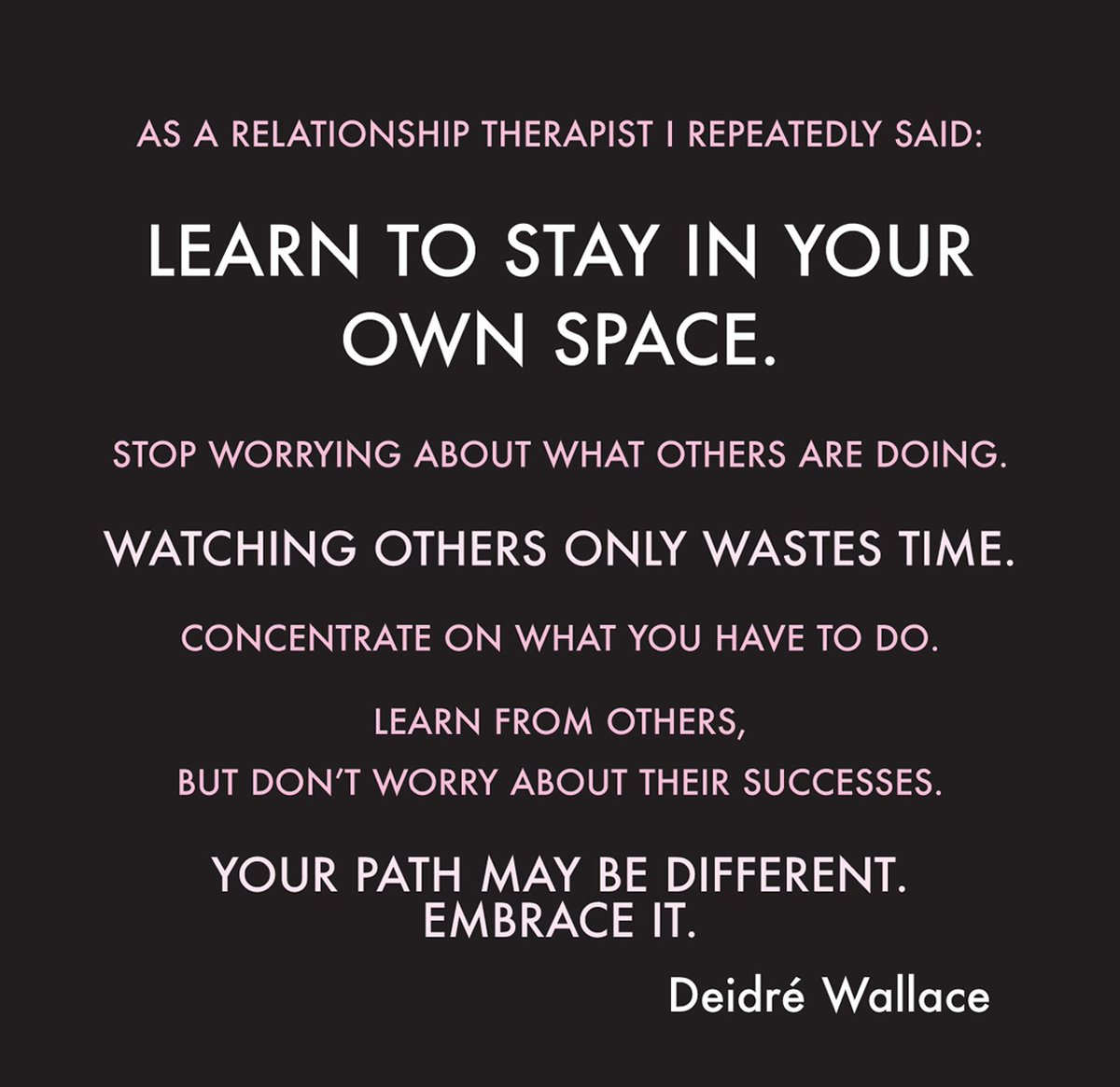 My relationship observations: Learn to stay in your own space: https:/...