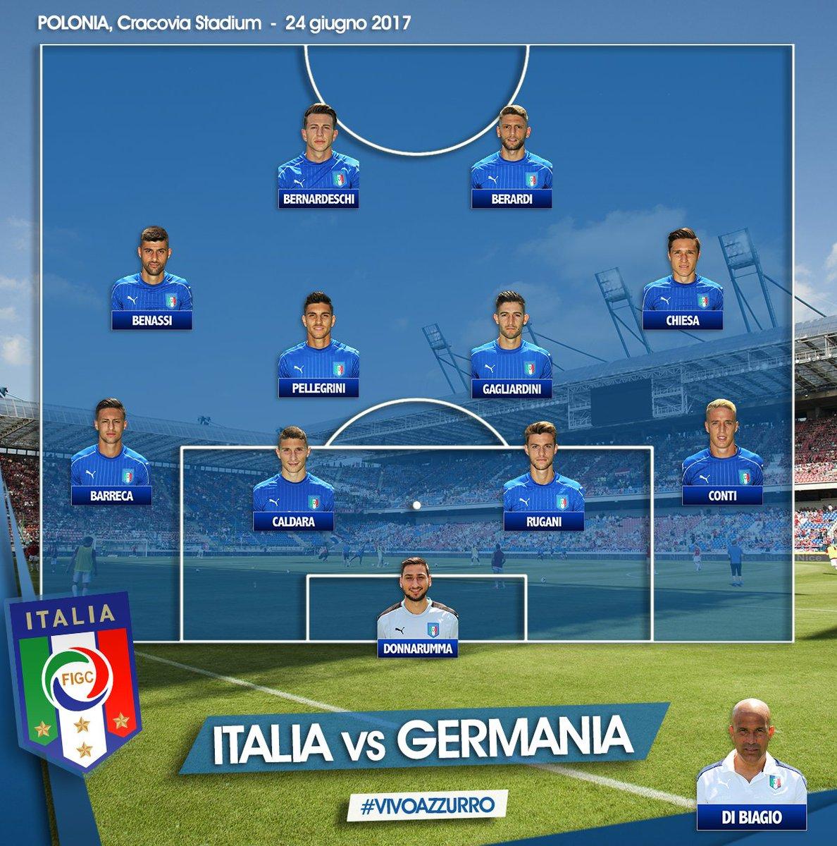 #U21Euro   Gli 11 #Azzurrini scelti da #DiBiagio! Alle 20.45 #ItaliaGe...