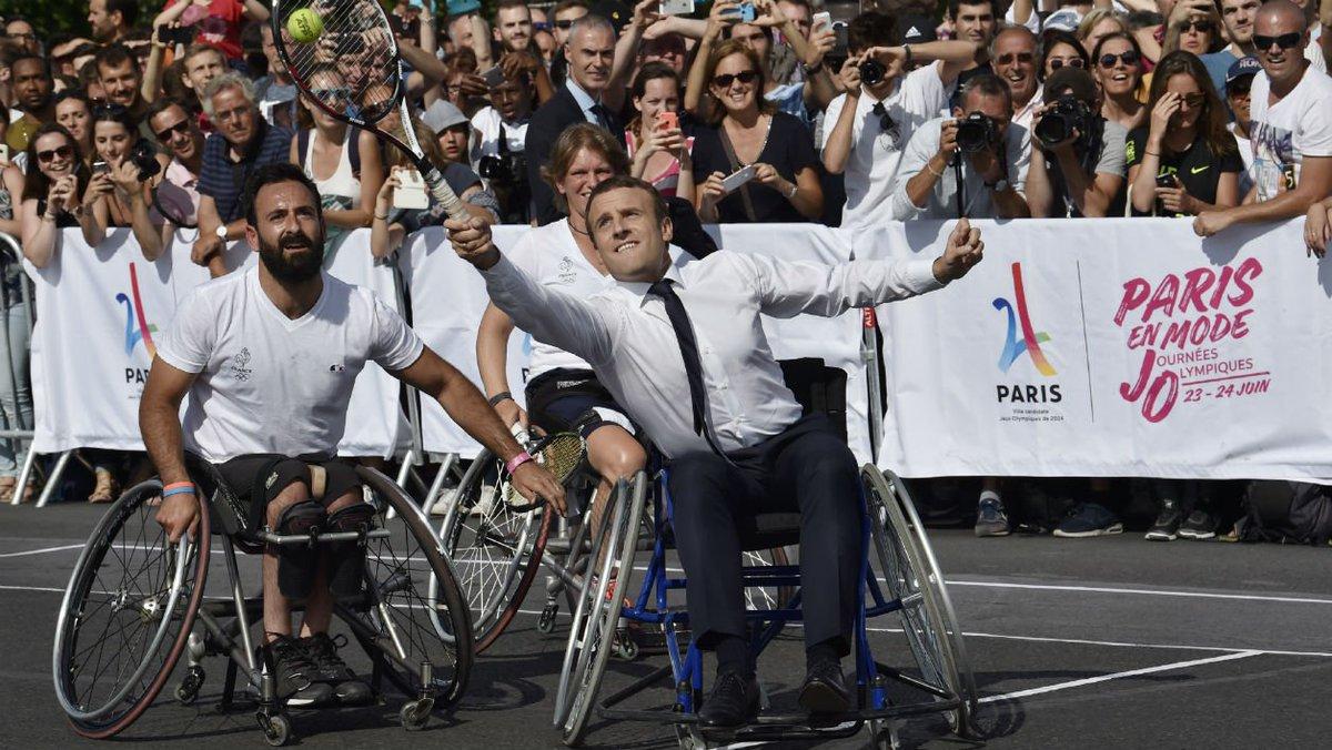 JO 2024: quand Macron 'participe', il 'préfère toujours gagner' https://t.co/nz97K23G0A