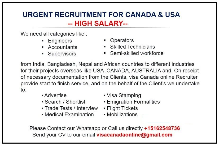 Visa Canada On Twitter If You Want To Apply Job Contact Canada