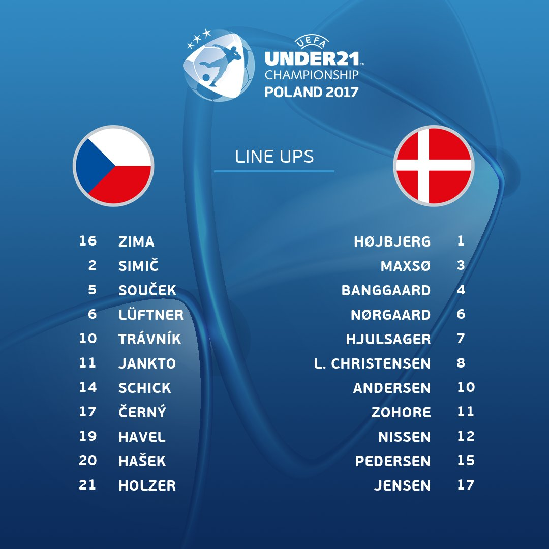 ⚽️ Czech Republic 🆚 Denmark ⚽️  Official team news!  👉  https://t.co/n...