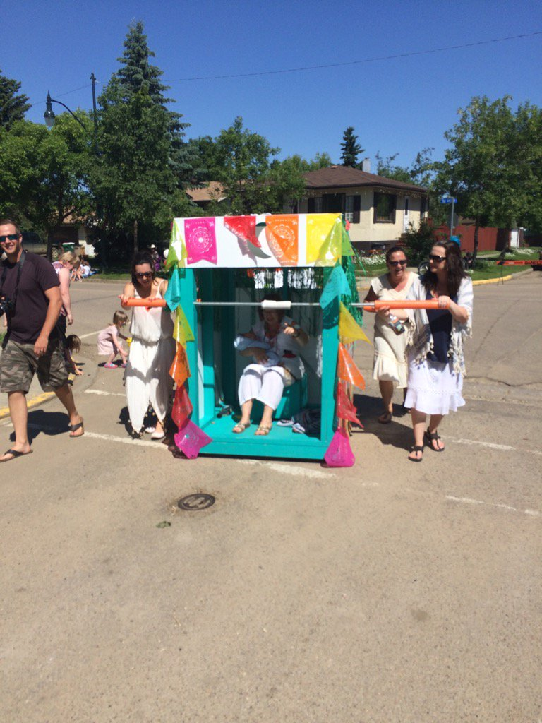 @Bruderheim #Recreation and Culture Board ripping up the streets at Lamont Parade today in their outhouse!!  <br>http://pic.twitter.com/pLY2Nd6Zmk