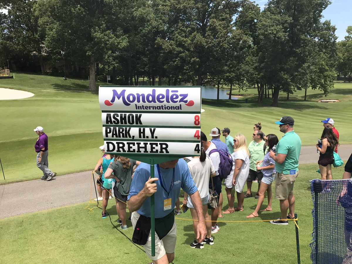 .@aditigolf shots 7-under 64 and is currently T2 @NWAChampionship http...