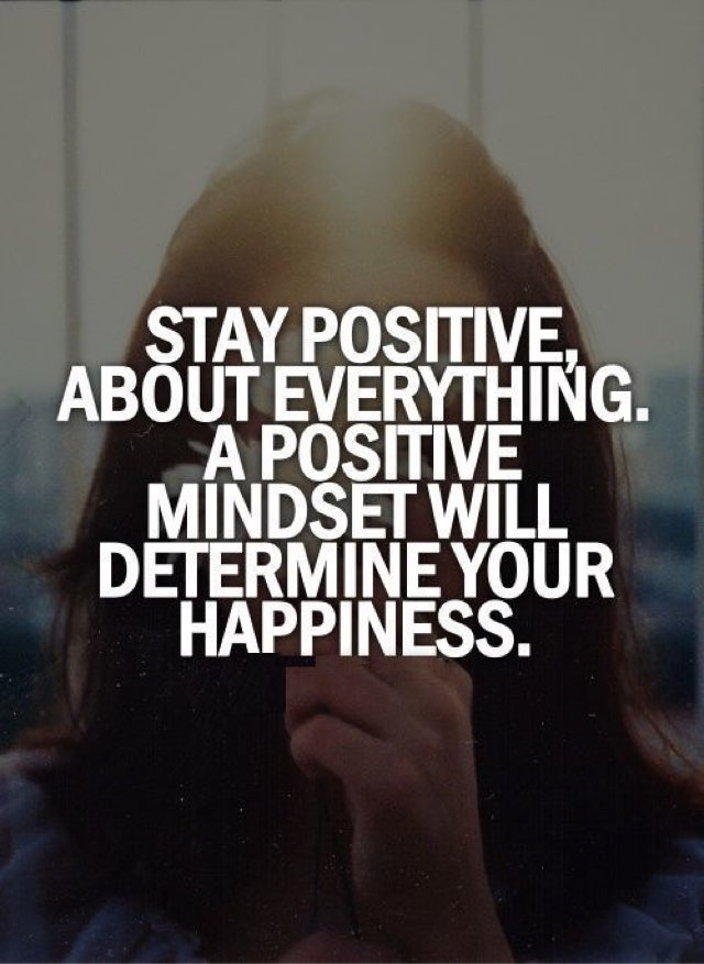 Negativity exists but what you Focus on Persists. Stay Positive.  #Bel...