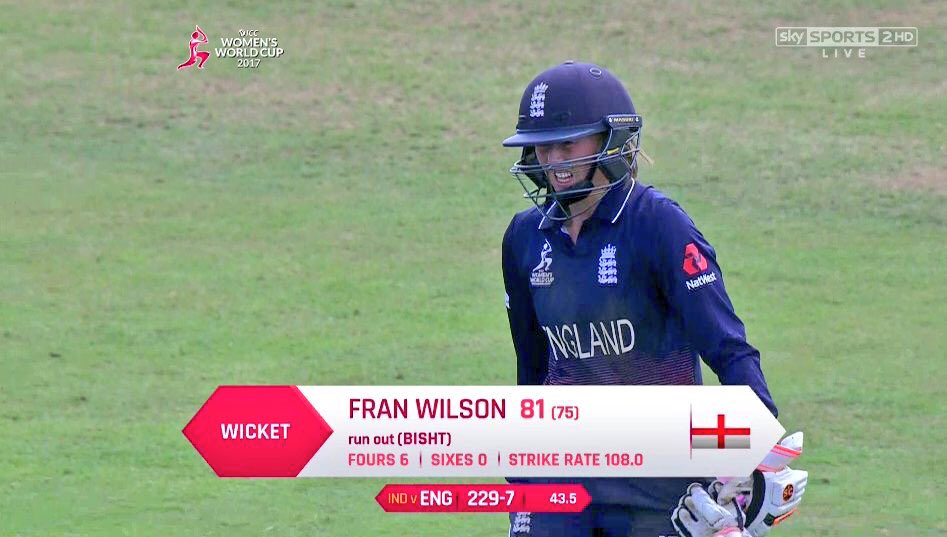 Top knock today from @fwilson07 against India too -great to see a #stormtrooper in the runs. Fran-tastic!  <br>http://pic.twitter.com/Y1GmNsyQM3
