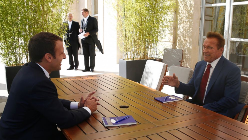#Schwarzenegger, French President Macron shoot environmental video to 'make the planet great again' https://t.co/nuNqoPfKnq