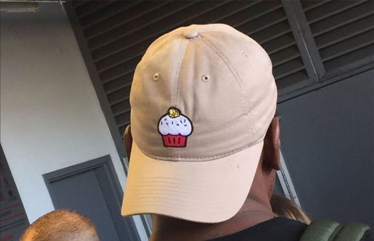 Kevin Durant wore a cupcake hat that had a special twist to mock his haters.