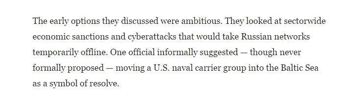 Instead of proposed serious measures all Russia got was a stern warning. Didn&#39;t deter much, eh. #EpicFail  https://www. washingtonpost.com/graphics/2017/ world/national-security/obama-putin-election-hacking/?utm_term=.d9010cb412cd &nbsp; … <br>http://pic.twitter.com/gHsDOOM1qI