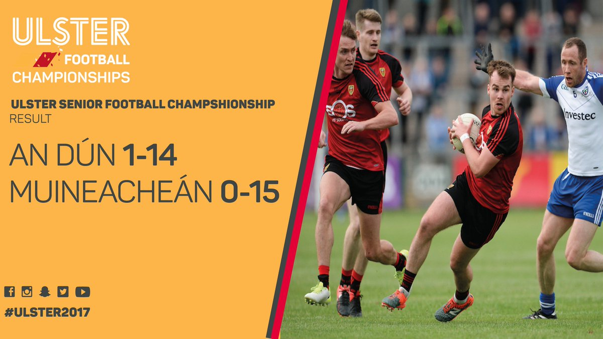 RESULT - @OfficialDownGAA are through to the #Ulster2017 SFC Final wit...