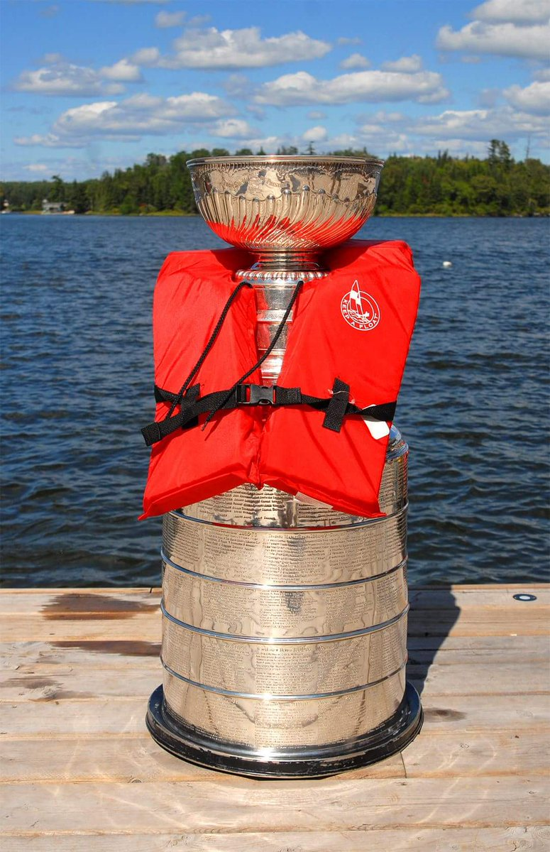 Shout out to summer Saturdays on the lake. #SafetyFirst #StanleyCup ht...