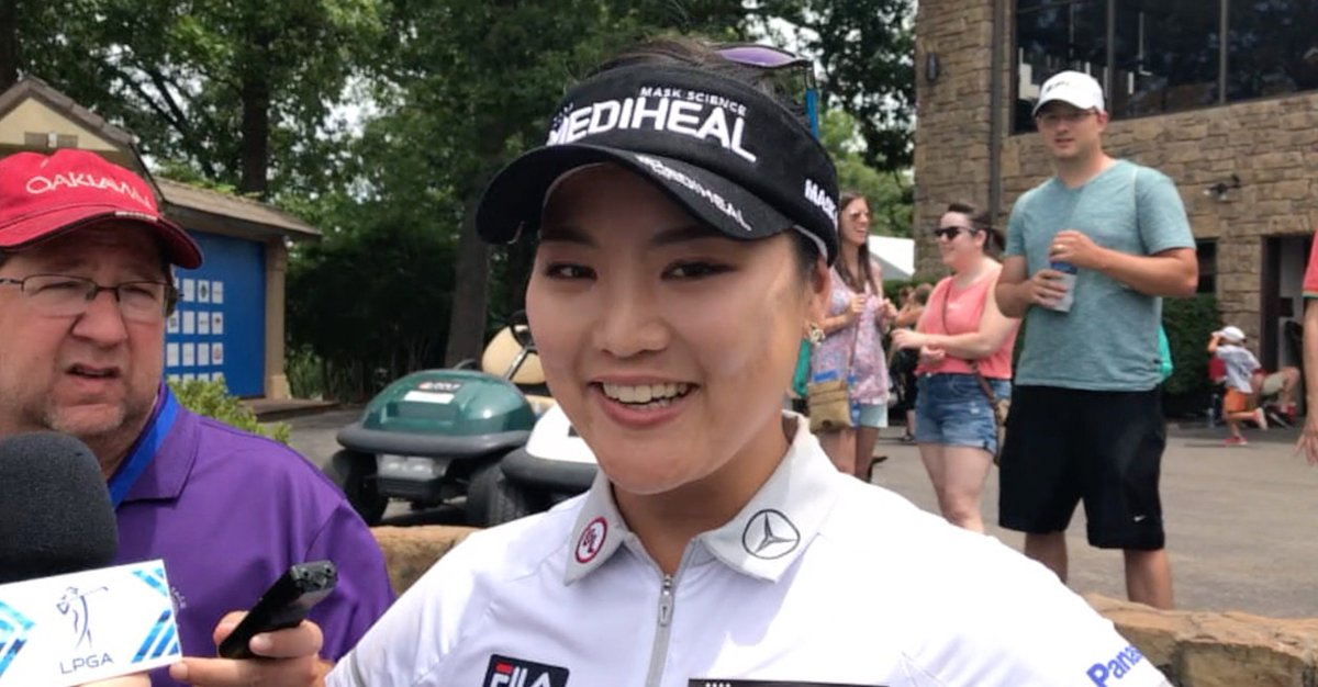 """It was so much fun"" - @1soyeonryu after tying her career-low round of..."