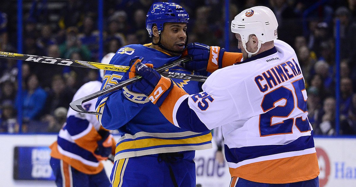 Ryan Reaves thought reports of being traded for a 1st-round pick were...