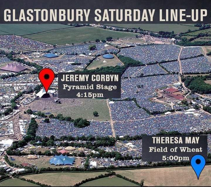#Glastobury2017 Saturday line-up https://t.co/4ktWjTN1hz