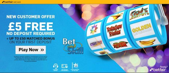 Betfair Arcade no deposit bonus