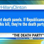 """Yesterday, @HillaryClinton tweeted that should the GOP pass their healthcare bill, """"they're the death party."""""""