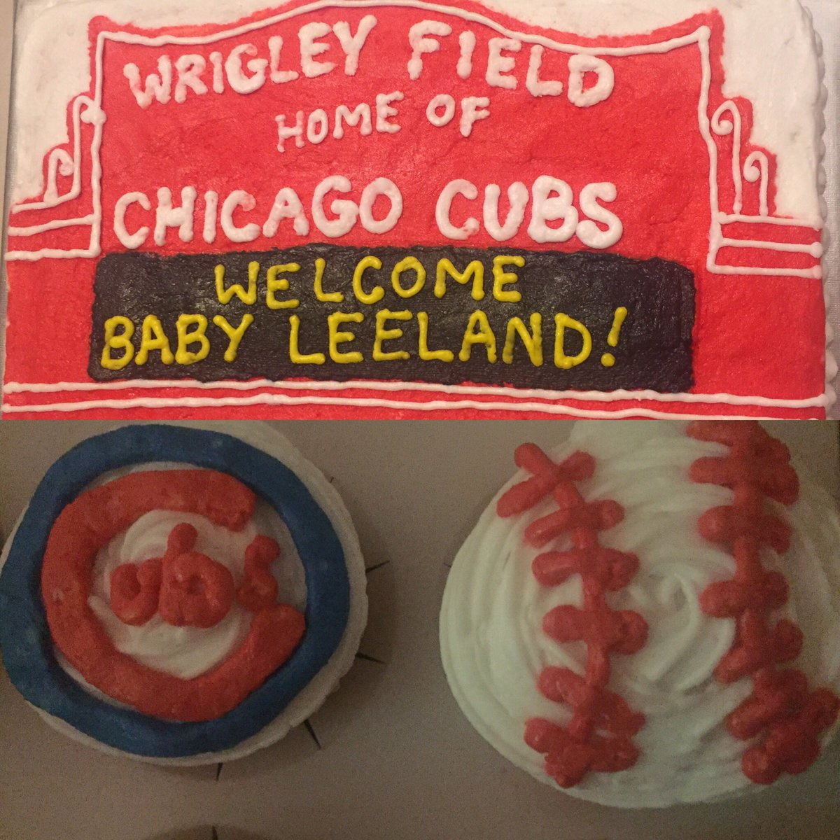 My uber talented wife's latest cake creation... @Cubs #Cubs #WrigleyFi...
