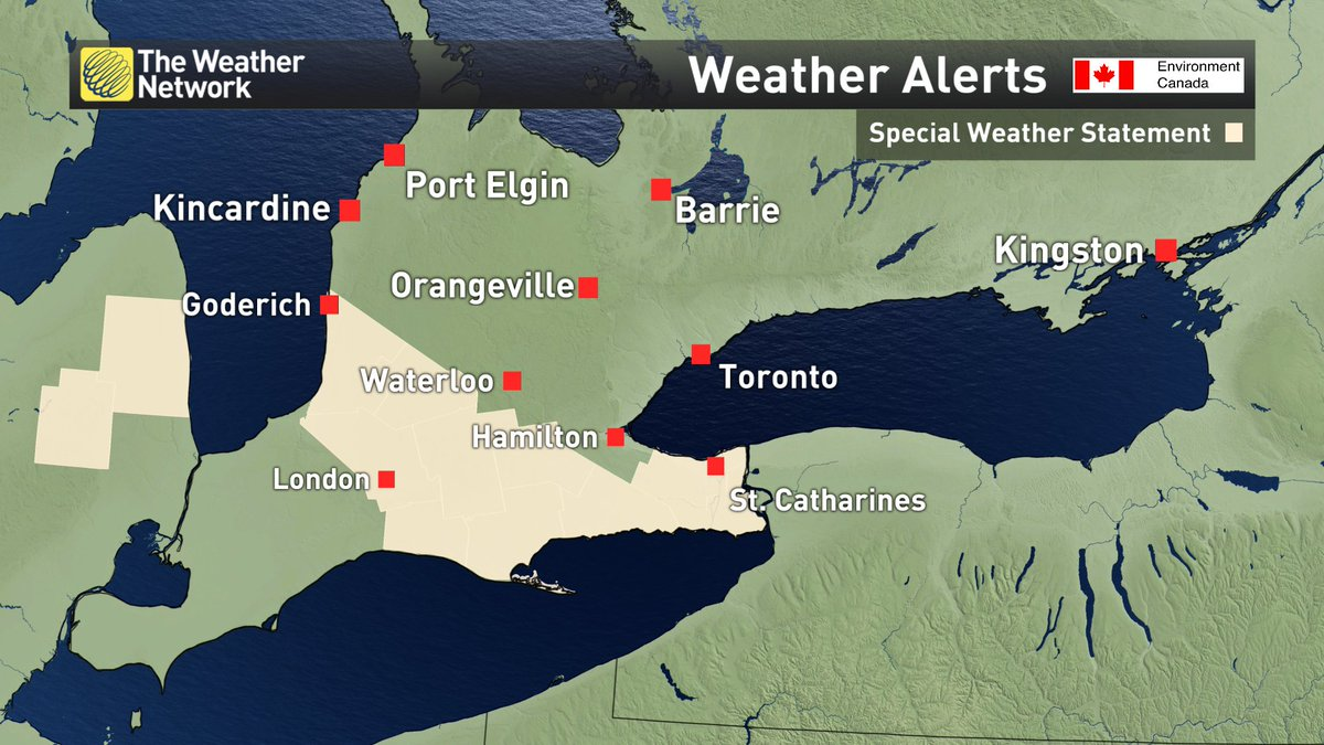Isolated Thunderstorms w/ small hail, wind gusts to 60km/h & brief...