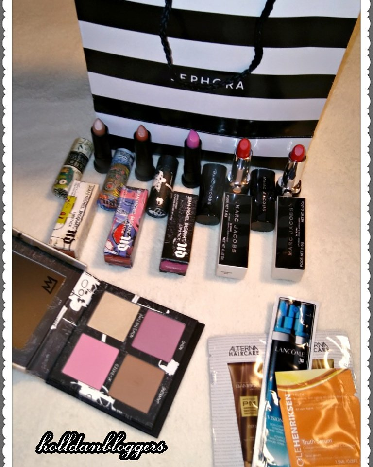 My hubby bought this amazing Sephora Haul for me!! #SephoraHaul @UrbanDecay @MarcBeauty for specifics go Instagram @holldanbloggers<br>http://pic.twitter.com/qxqcJZ4MIw