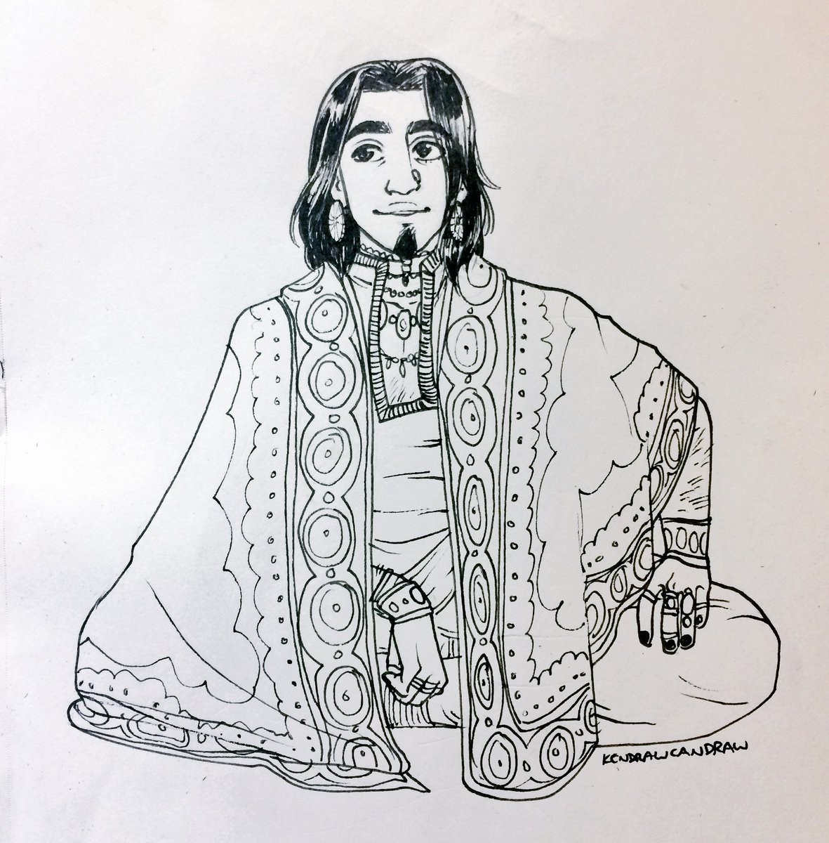 Drew a Gilmore in between con commissions #CriticalRole https://t.co/2...