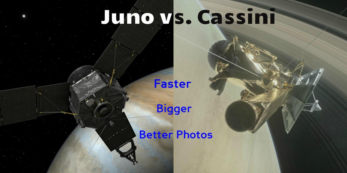 Juno vs. Cassini: Battle of the Planetary Probes   🛰️