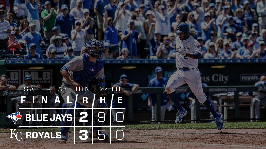 RECAP: Esky goes 3-for-3, scores twice in #Royals win over Blue Jays:...