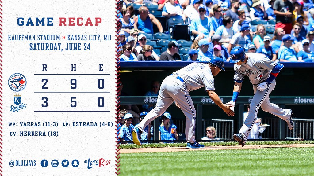 RECAP: Home runs by @KPILLAR4, Tulo not enough as #BlueJays fall to Ro...