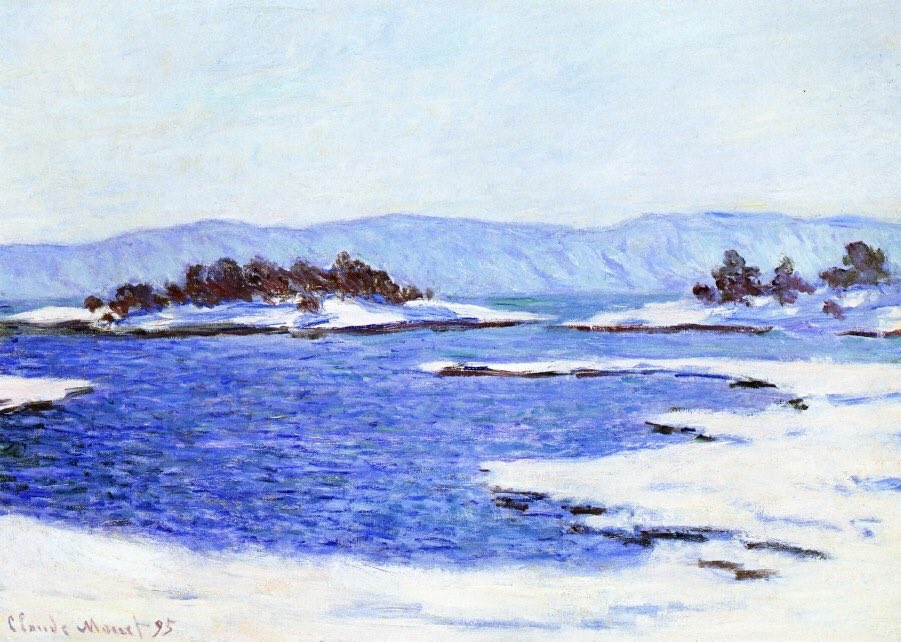Claude Monet Le rive del fiordo a Christiania 'The banks of the fjord at Christiania' (1895)