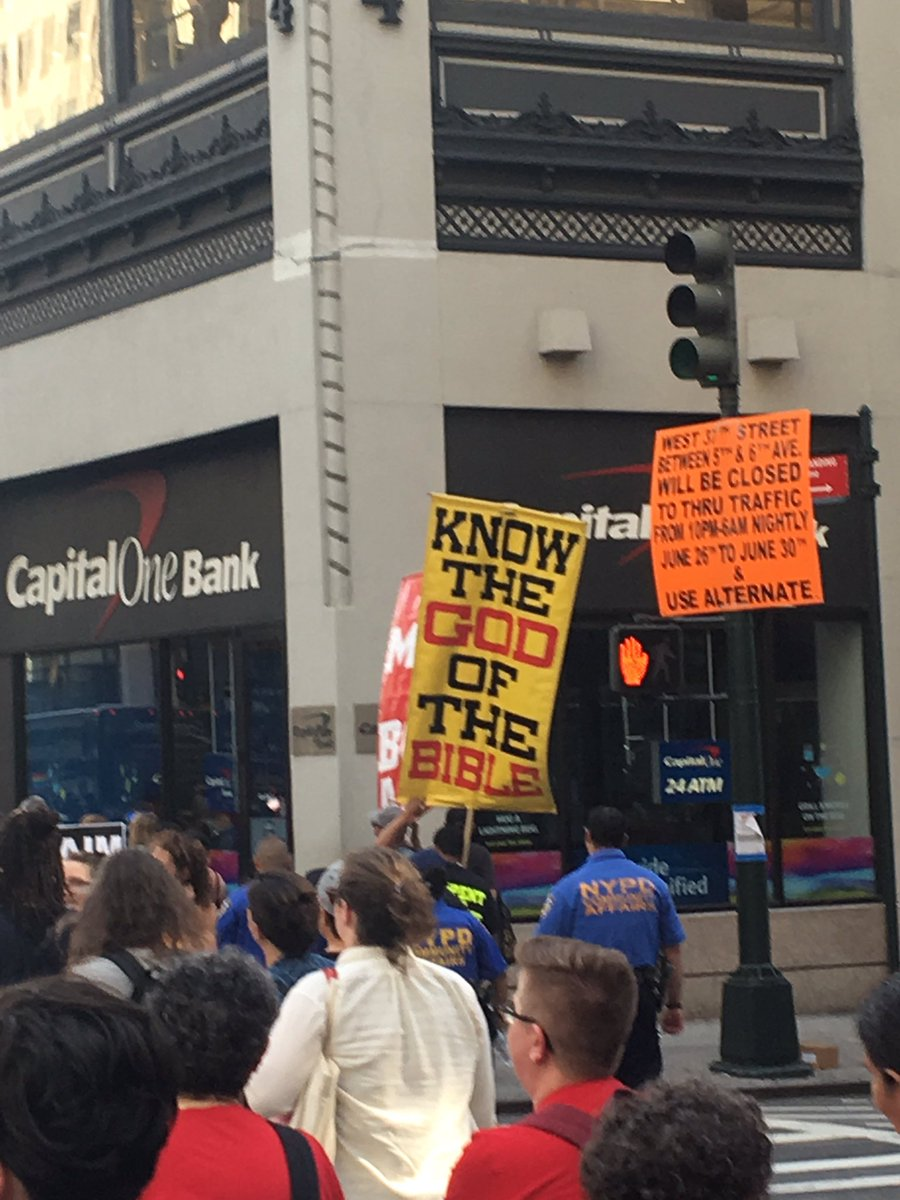 Homophobic counterprotesters aka people who don't have dinner plans #D...