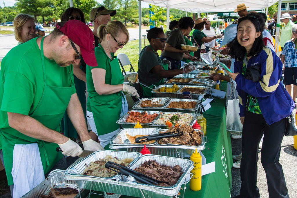 """I like to say that @USDA's new motto is """"Do right and feed everyone.""""  Feel like today at our first #USDAFamilyDay we did just that."""