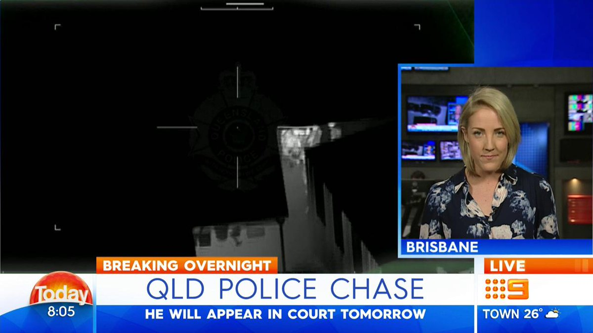 The QLD police helicopter has captured a dramatic high speed chase between Brisbane and Logan. #9News