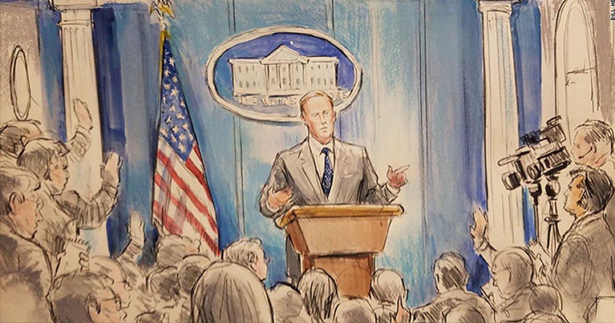 The White House banned cameras... so CNN sent a sketch artist https://...
