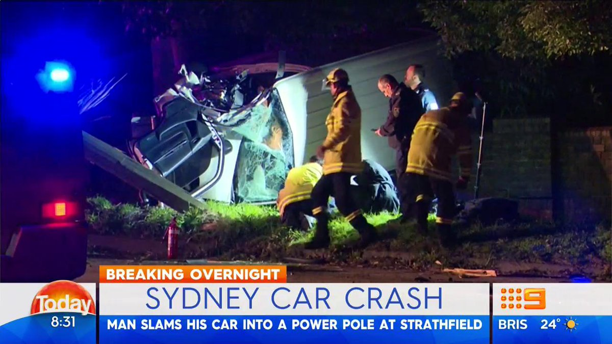 A high-speed crash has brought down power lines in Strathfield. #9News